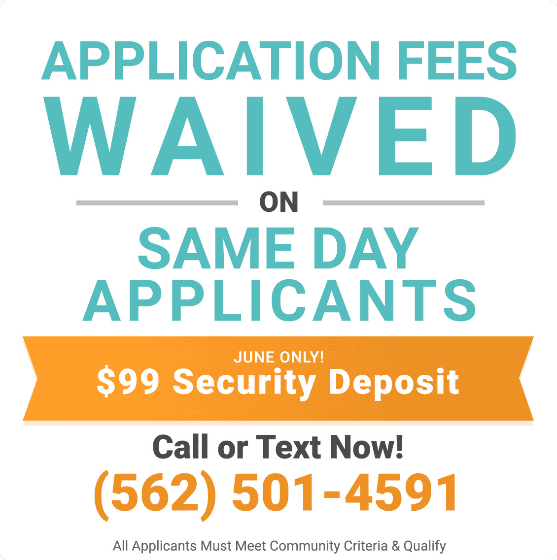 Application Fees Waived on Same Day Applicants